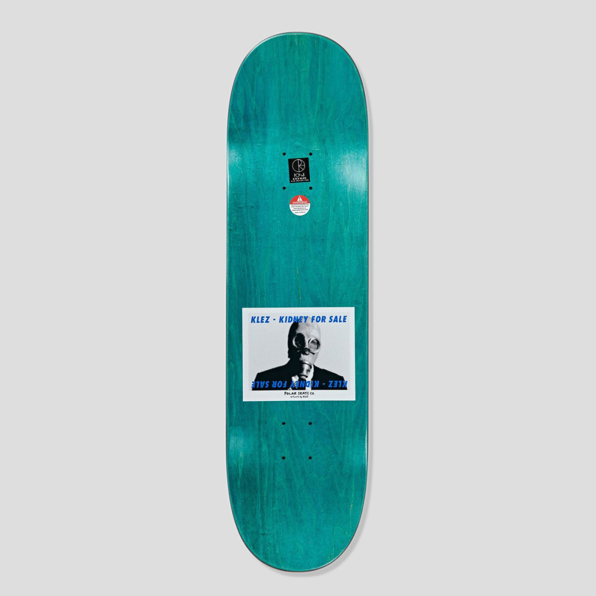 "POLAR SKATE CO. KLEZ ""KIDNEY FOR SALE 2.0"" DECK WHITE 8.125"""