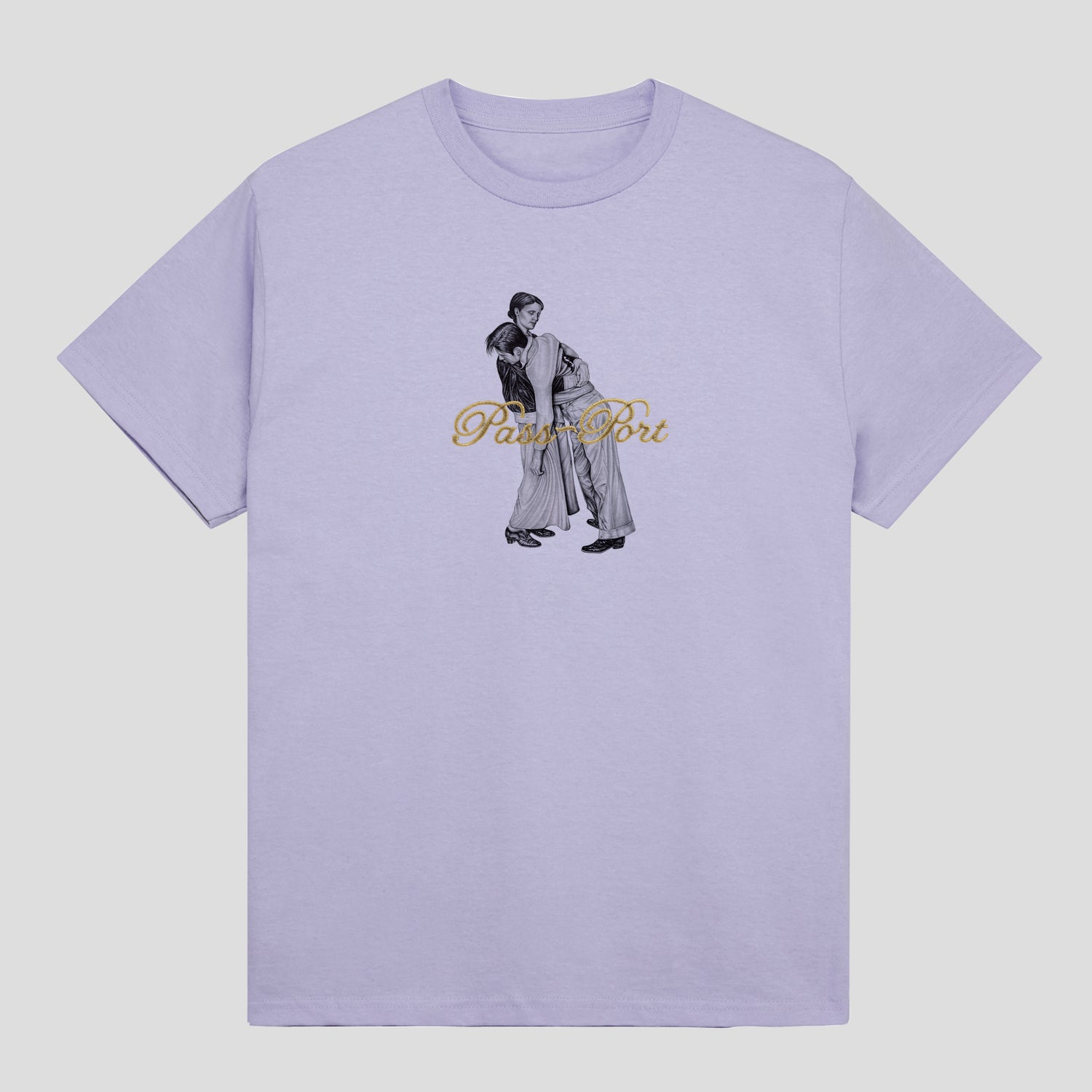 "PASS~PORT ""LEAN ON ME"" TEE LAVENDER"
