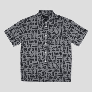 "PASS~PORT ""LIFE OF LEISURE"" S/S SHIRT BLACK"