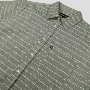 "PASS~PORT ""WORKERS LINE WIRE"" S/S SHIRT GREEN"