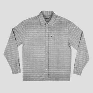 "PASS~PORT ""WORKERS LINE WIRE"" L/S SHIRT GREY"