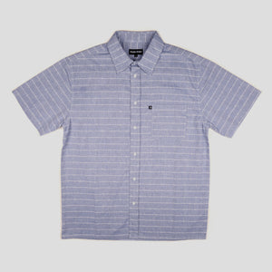 "PASS~PORT ""WORKERS LINE WIRE"" S/S SHIRT BLUE"