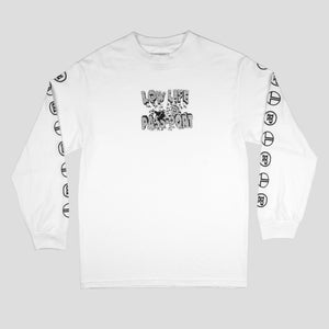 "PASS~PORT LOW LIFE ""BRICK"" L/S TEE WHITE"