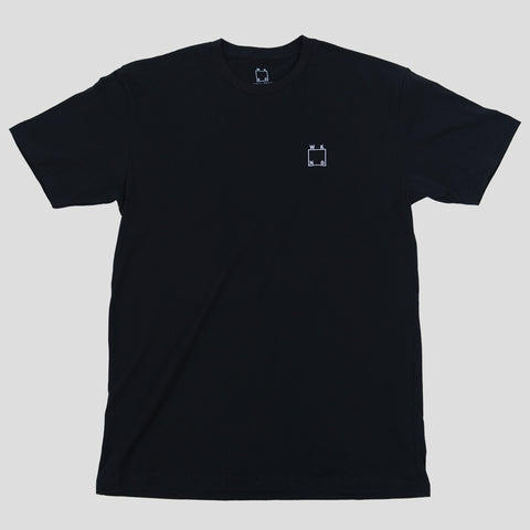 WKND EMBROIDERED LOGO TEE BLACK