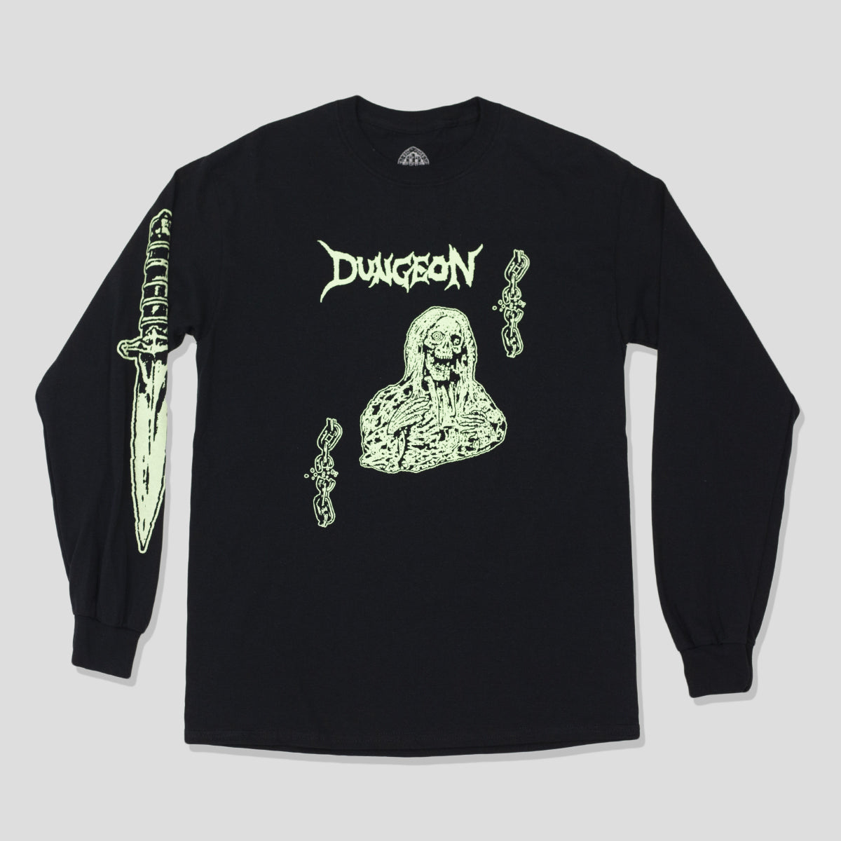 "DUNGEON ""BANNISHED"" L/S TEE BLACK/GLOW"