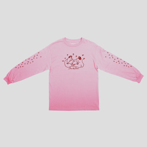 "PASS~PORT ""LUVERS"" L/S TEE PNK"