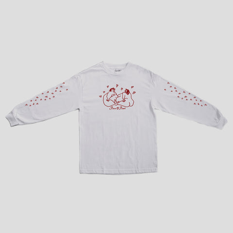 "PASS~PORT ""LUVERS"" L/S TEE WTE"