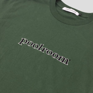 "POOLROOM ""LOGO"" TEE FOREST GREEN"