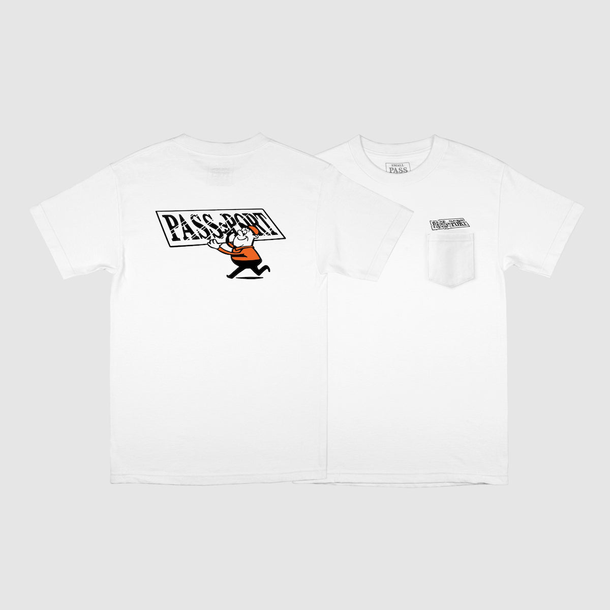 "PASS~PORT ""MIRROR MAN"" TEE WHITE"