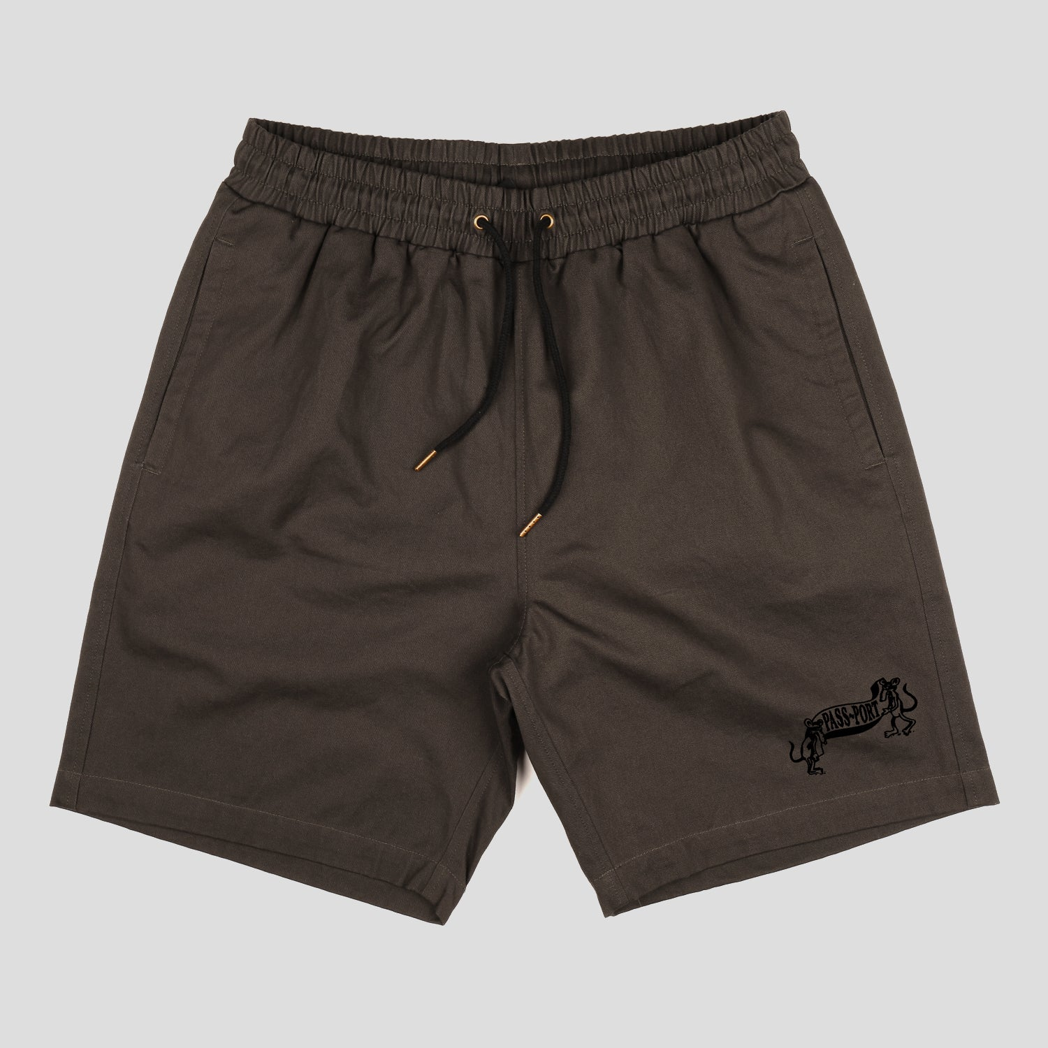 "PASS~PORT ""MISSING TILDE"" SHORT CHARCOAL"