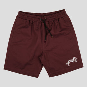 "PASS~PORT ""MISSING TILDE"" SHORT MAROON"