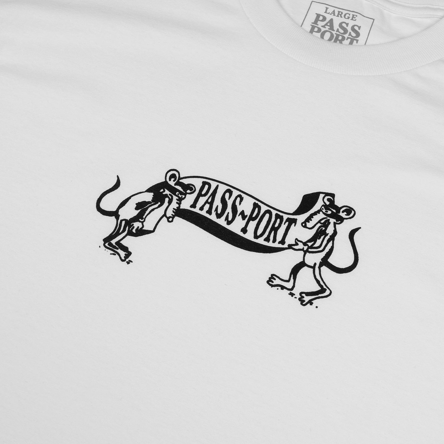 "PASS~PORT ""MISSING TILDE"" TEE WHITE"