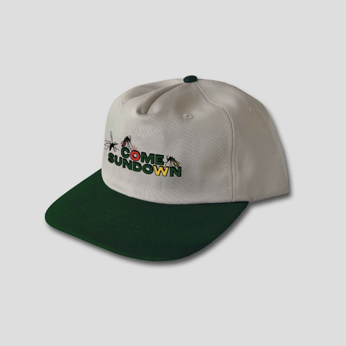 "COME SUNDOWN ""MOSQUITO"" CAP CREAM/GREEN"