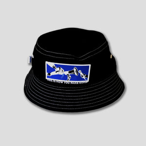 "COME SUNDOWN ""NOISE"" BUCKET HAT BLACK"