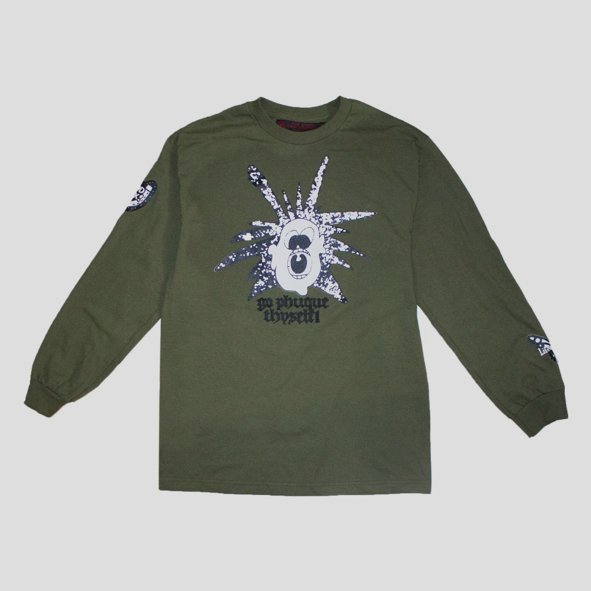 "LIFE IS UNFAIR ""NONSENSE"" L/S TEE MILITARY GREEN"
