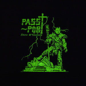"PASS~PORT ""OPERA DEMON"" GLOW IN THE DARK HOOD BLACK"