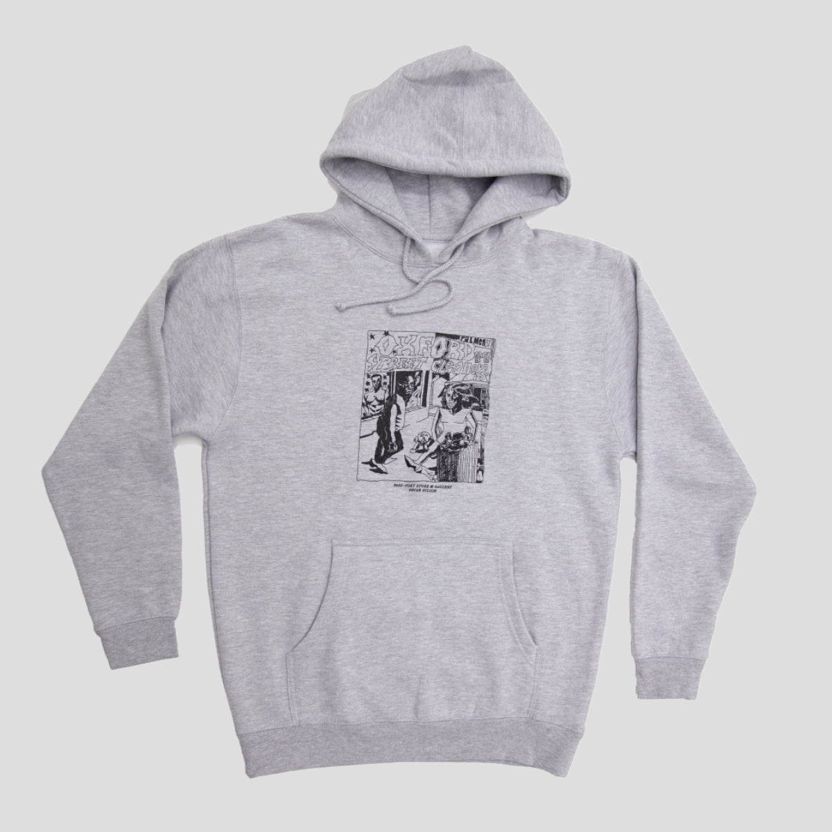 "PASS~PORT ""OXFORD STREET CLEANERS"" HOOD GREY"