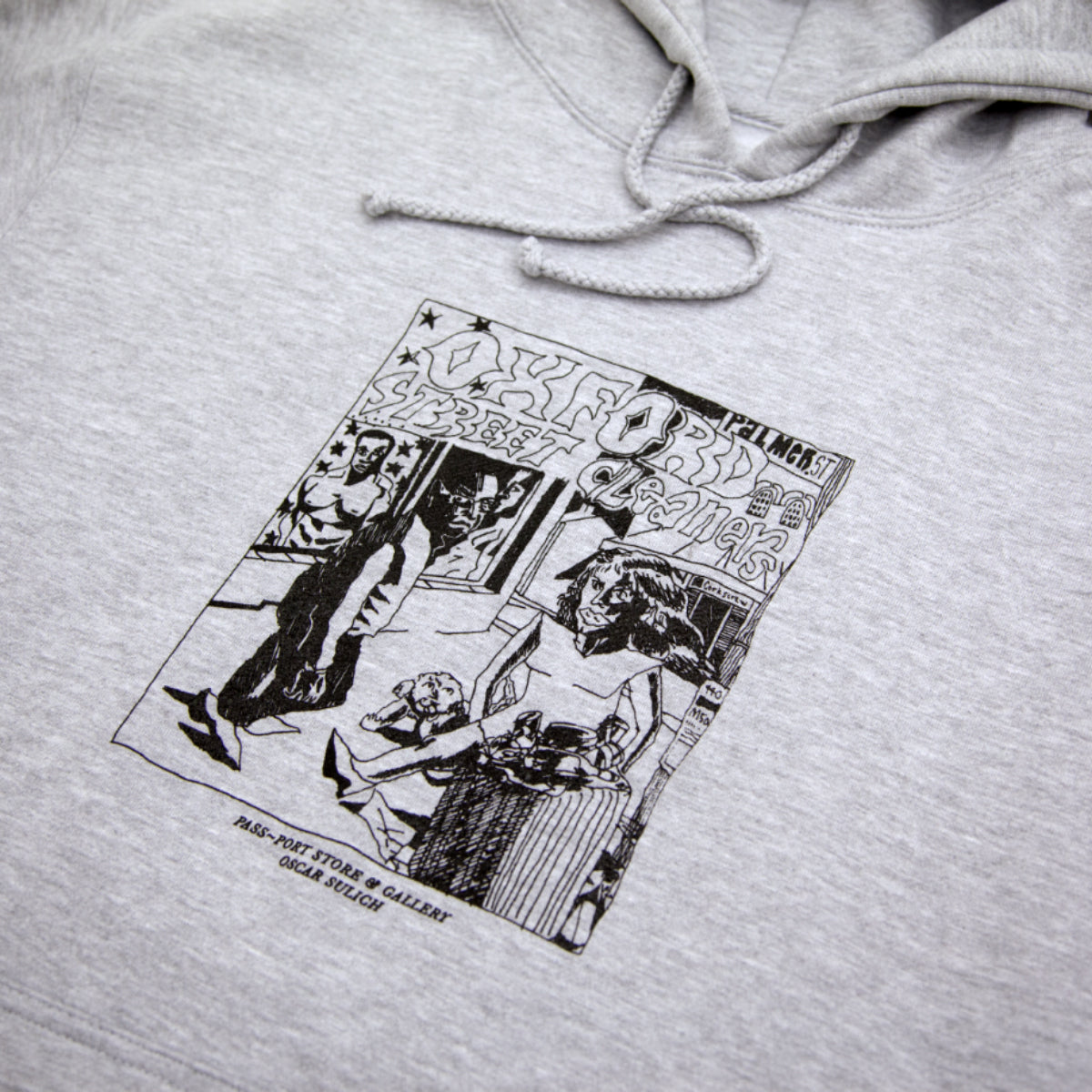 "PASS~PORT ""OXFORD STREET CLEANERS"" HOOD ASH GREY"
