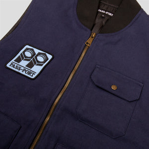 "PASS~PORT ""PACKERS"" VEST NAVY"