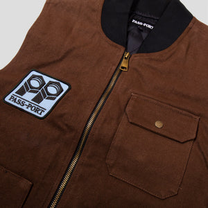 "PASS~PORT ""PACKERS"" VEST CHOCOLATE"