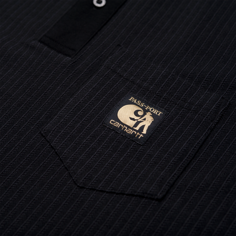 CARHARTT WIP & PASS~PORT POLO BLK/WTE