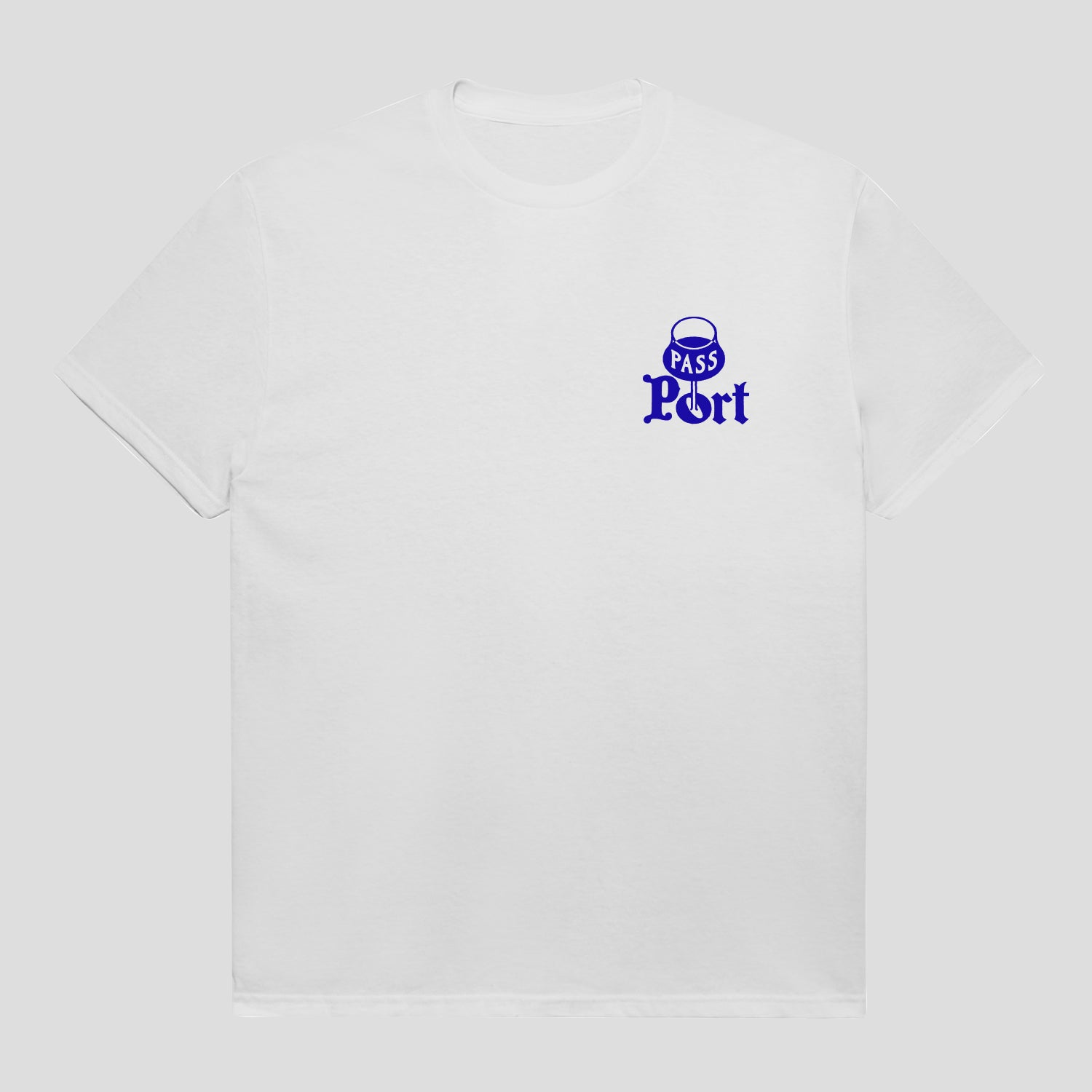 "PASS~PORT ""PORT"" TEE WHITE"