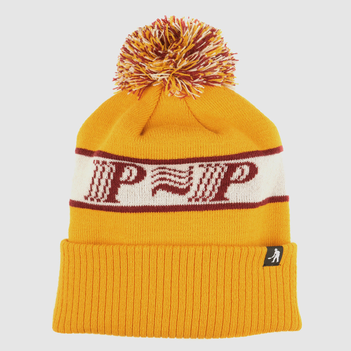 "PASS~PORT ""PPP~PPP"" POM BEANIE YELLOW"