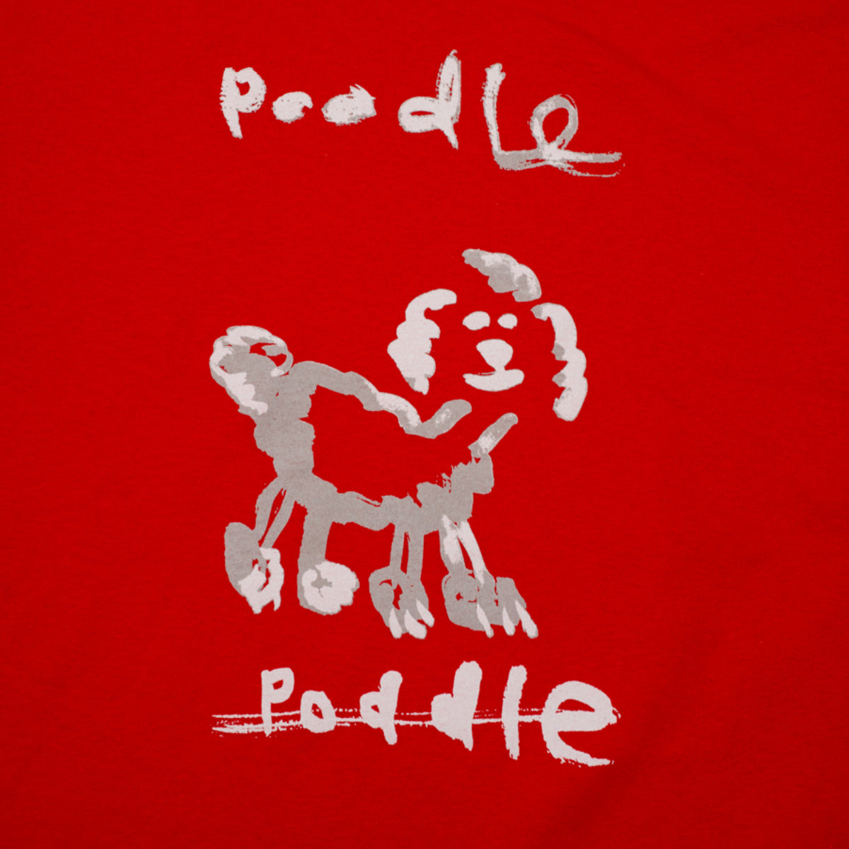 "HODDLE ""POODLE"" TEE RED"