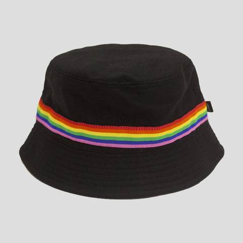 "PASS~PORT ""PRIDE"" RIBBON CANVAS BUCKET CAP BLACK"