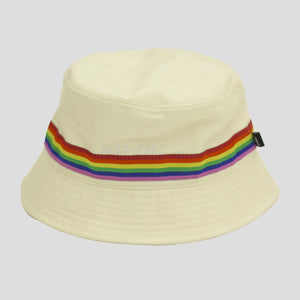 "PASS~PORT ""PRIDE"" RIBBON CANVAS BUCKET CAP NATURAL"