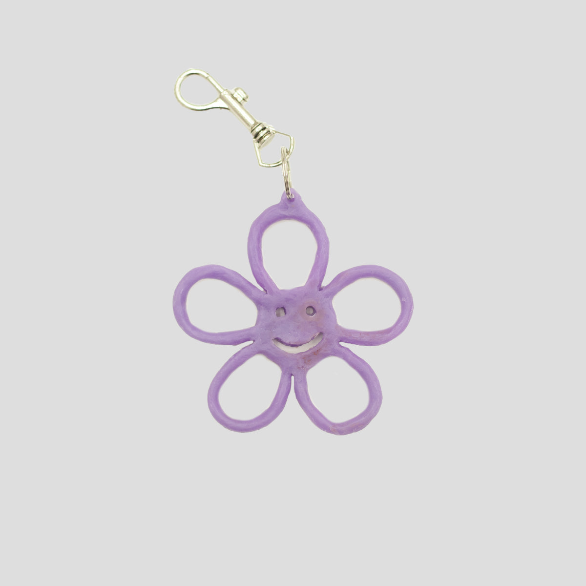 HAPPY FLOWER KEYRING PURPLE