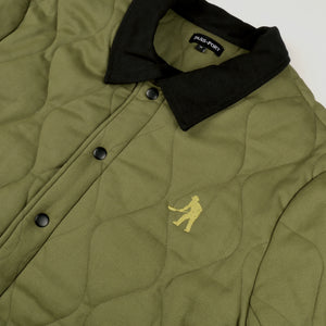 "PASS~PORT ""LATE QUILTED"" JACKET MILITARY GREEN"
