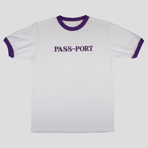 "PASS~PORT ""EMBROIDERY OFFICIAL"" RINGER TEE PRP"