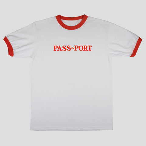 "PASS~PORT ""EMBROIDERY OFFICIAL"" RINGER TEE ORG"