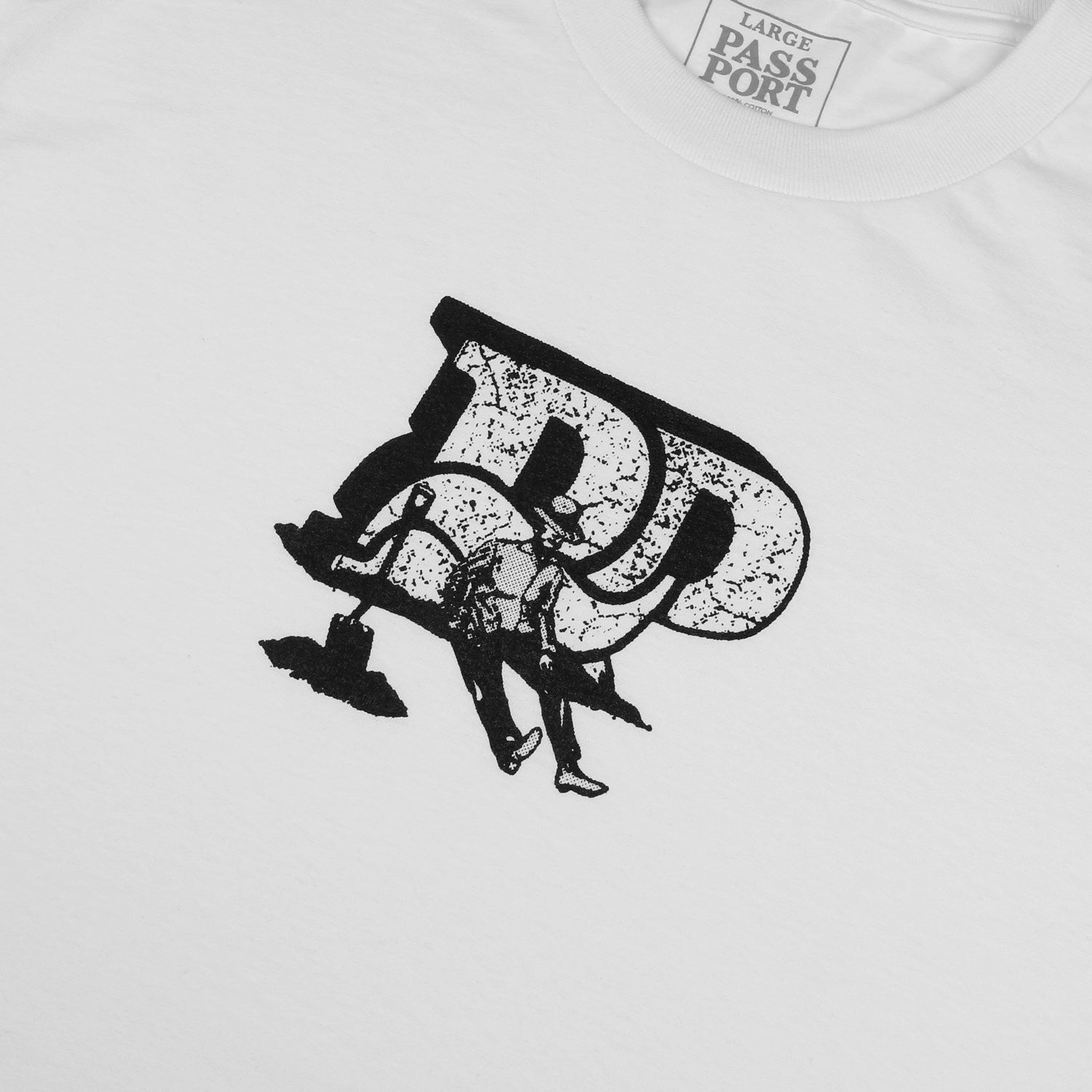 "PASS~PORT ""TOOLS DOWN"" TEE WHITE"