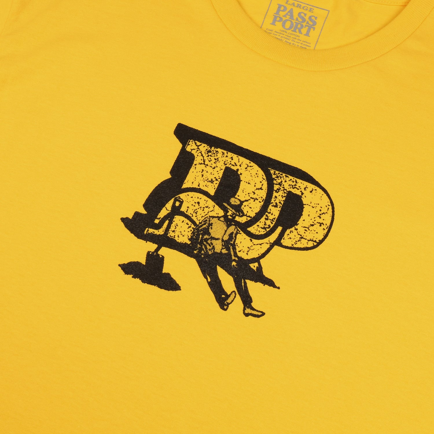 "PASS~PORT ""TOOLS DOWN"" TEE YELLOW"