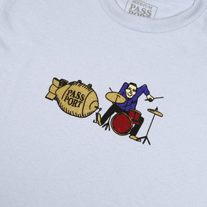 "PASS~PORT ""DRUM"" TEE POWDER BLUE"