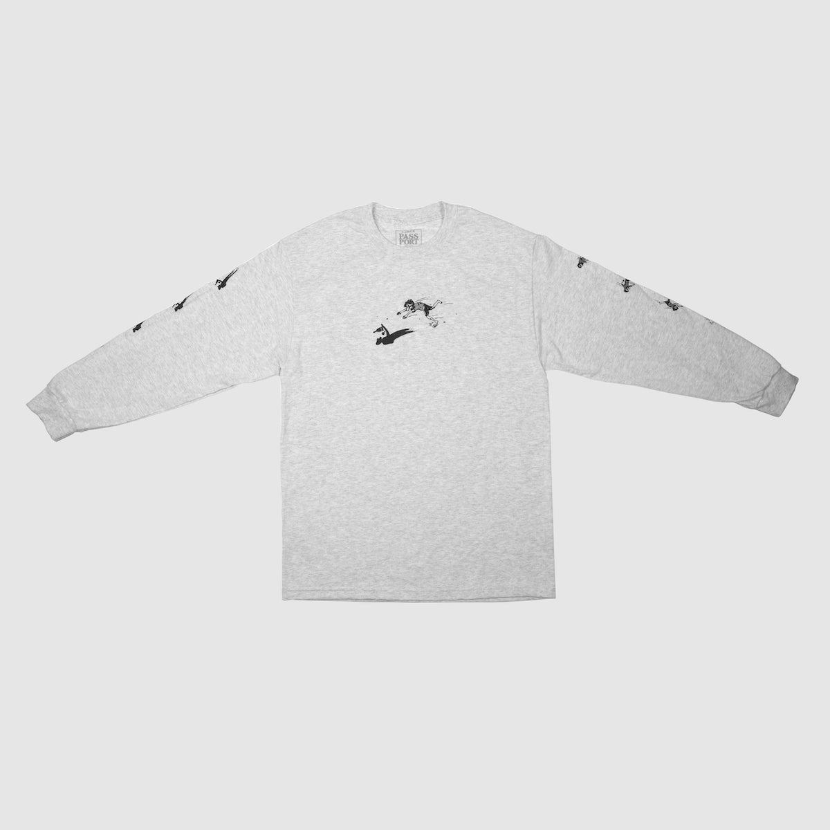 "PASS~PORT ""SHADY SHADOWS"" L/S TEE ASH"