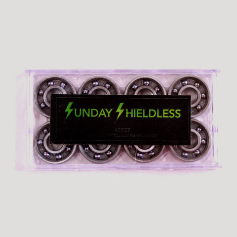 "SUNDAY HARDWARE ""SHIELDLESS"" ABEC 7 BEARINGS"