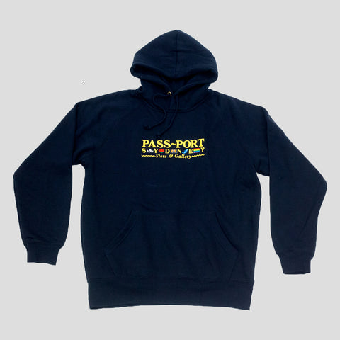 "PASS~PORT ""SOUVENIR"" HOOD NAVY"