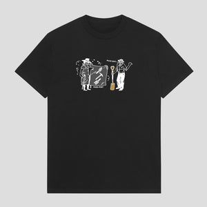 "PASS~PORT ""SPADES & SHOVELS"" TEE BLACK"