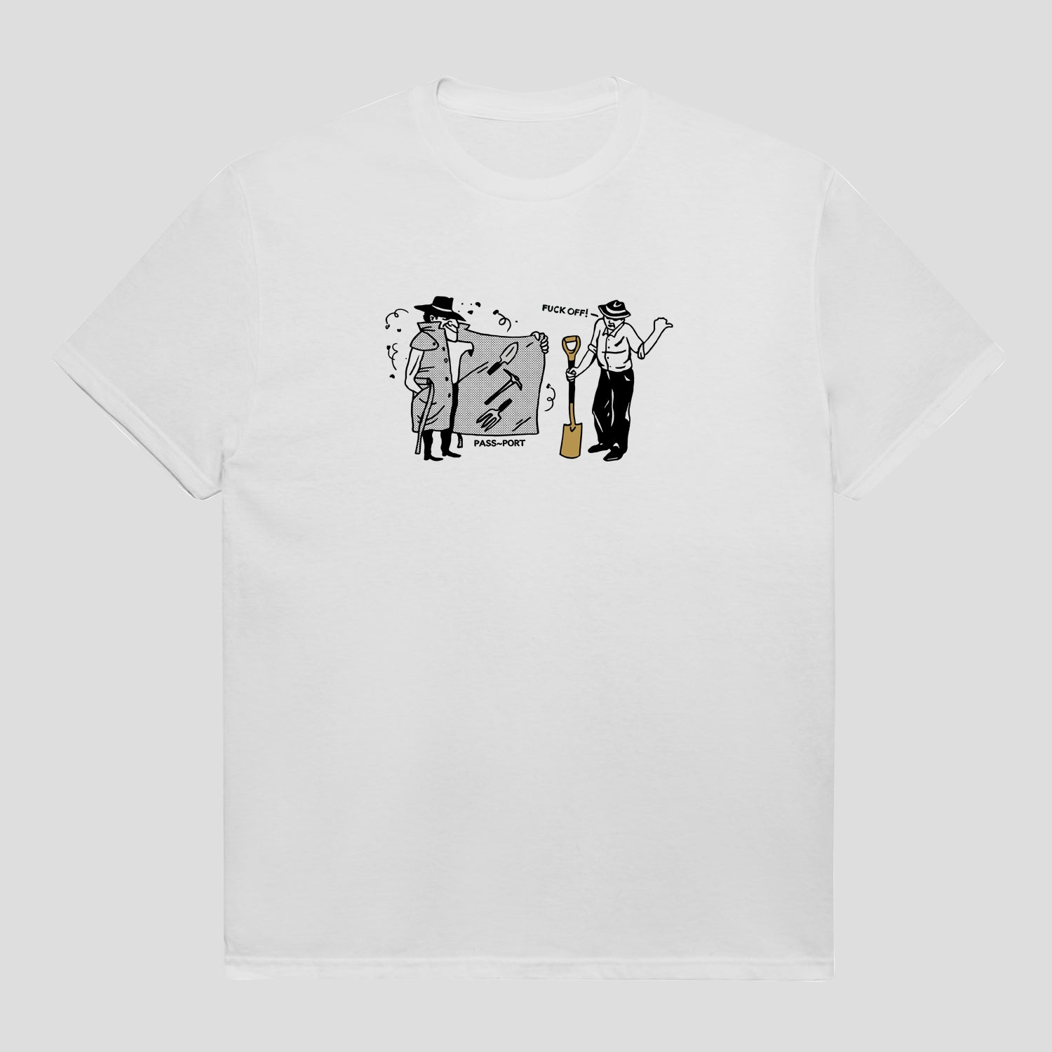 "PASS~PORT ""SPADES & SHOVELS"" TEE WHITE"