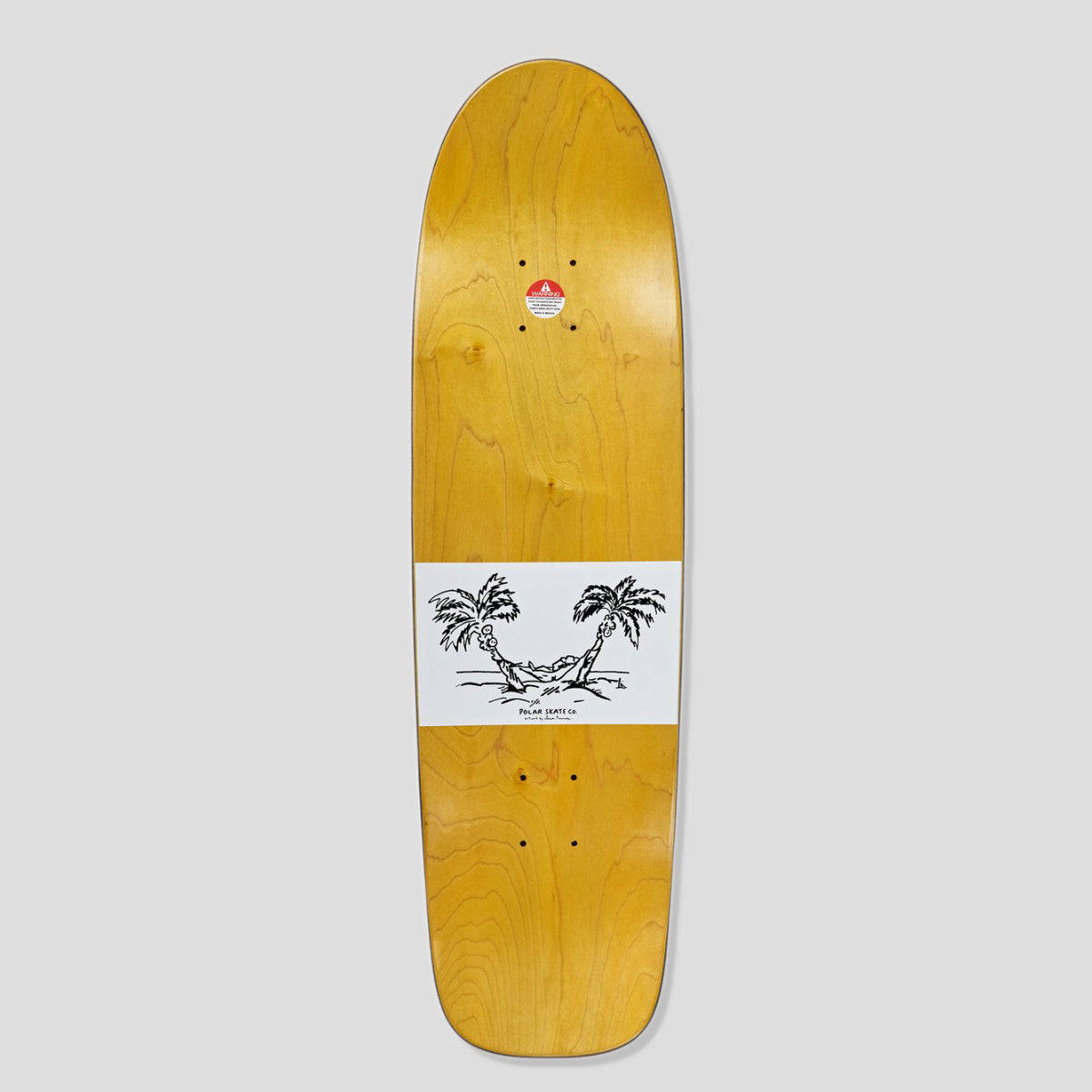 "POLAR SKATE CO. SHIN SANBONGI ""FREEDOM"" DECK SURF SHAPE"