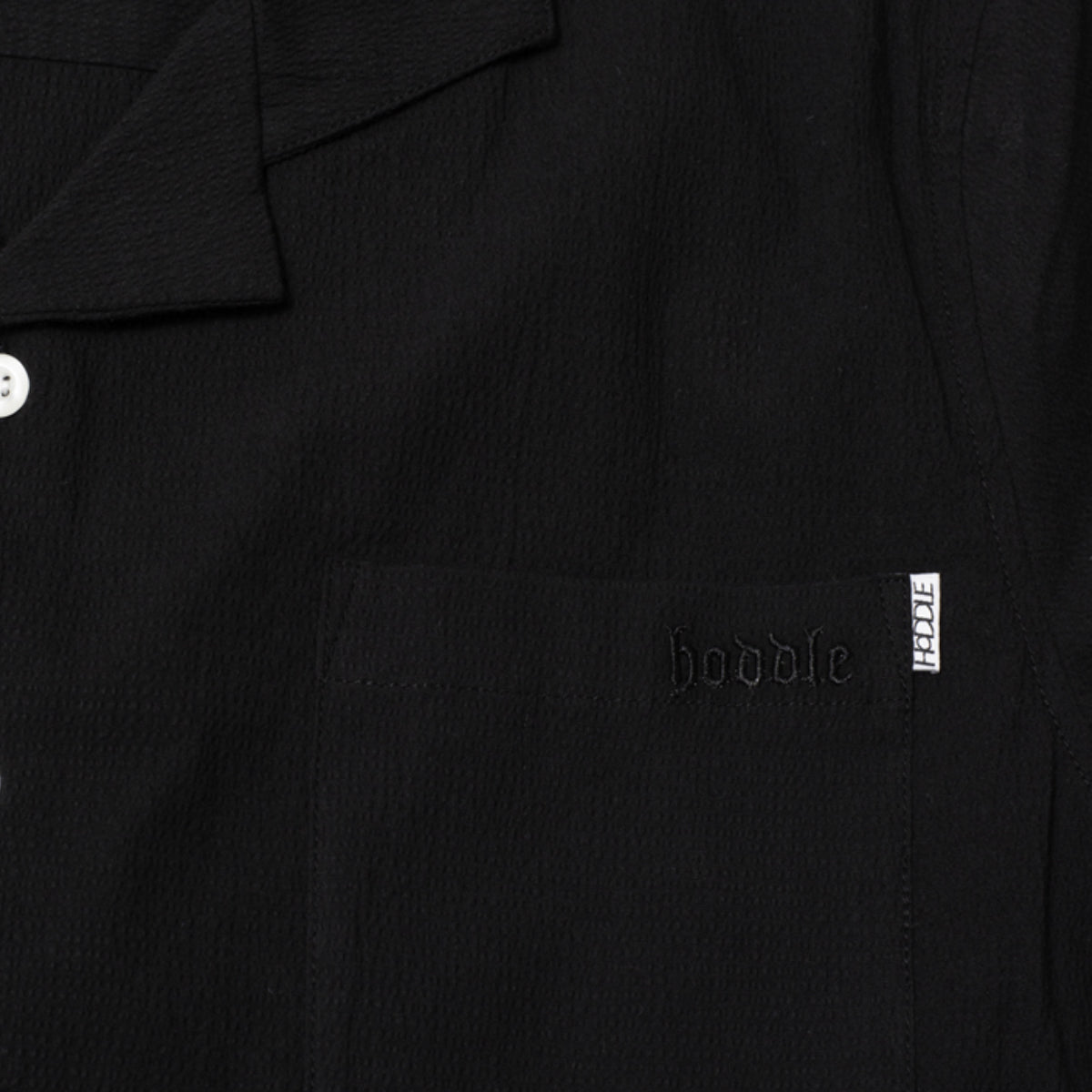 "HODDLE ""CAMP"" S/S SHIRT BLACK"