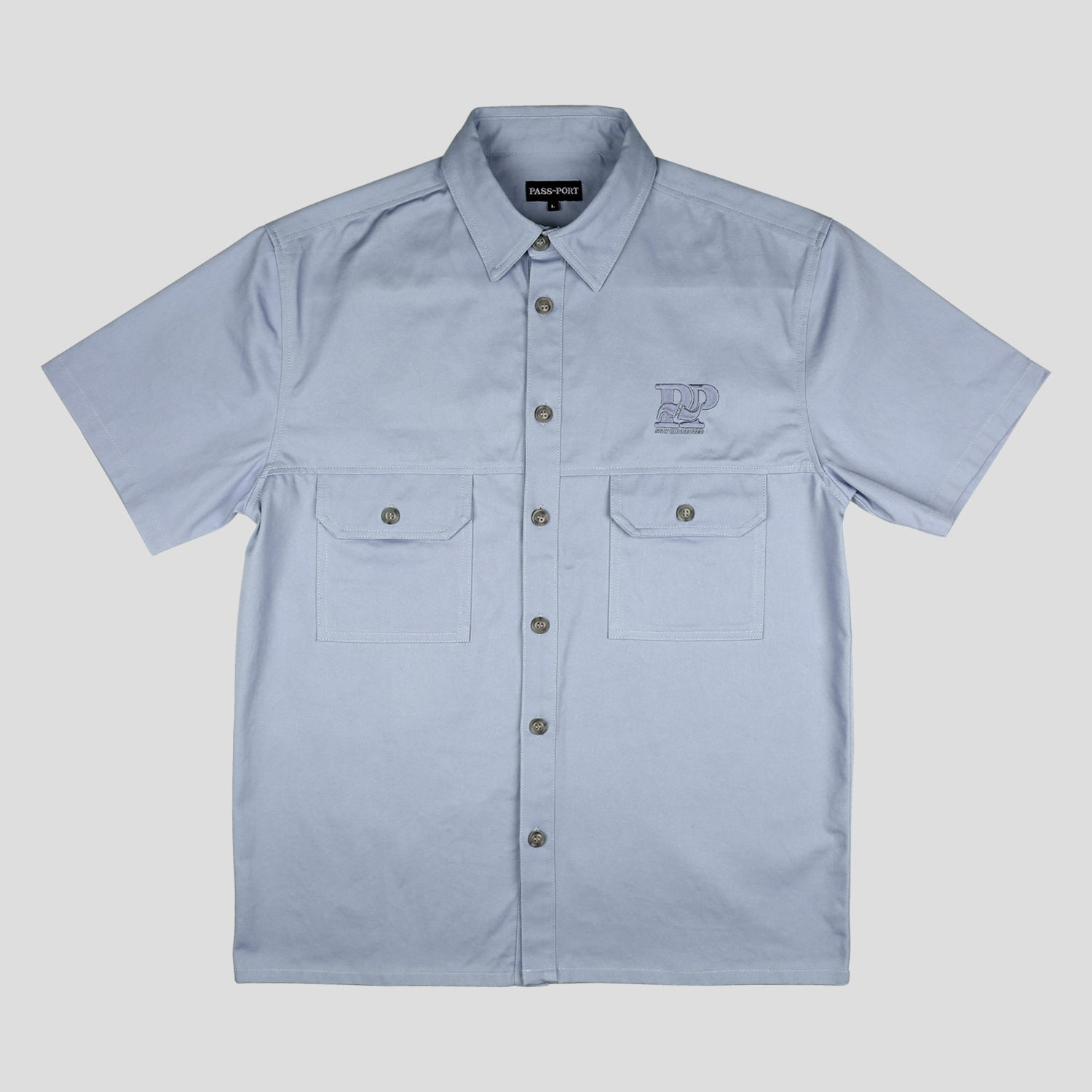 "PASS~PORT ""STAY CONNECTED"" SPARKY S/S SHIRT SLATE"