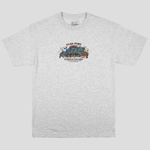 "PASS~PORT ""TOURIST"" TEE ASH GREY"