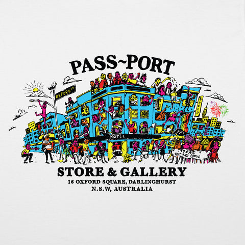 "PASS~PORT ""TOURIST"" TEE WHITE"