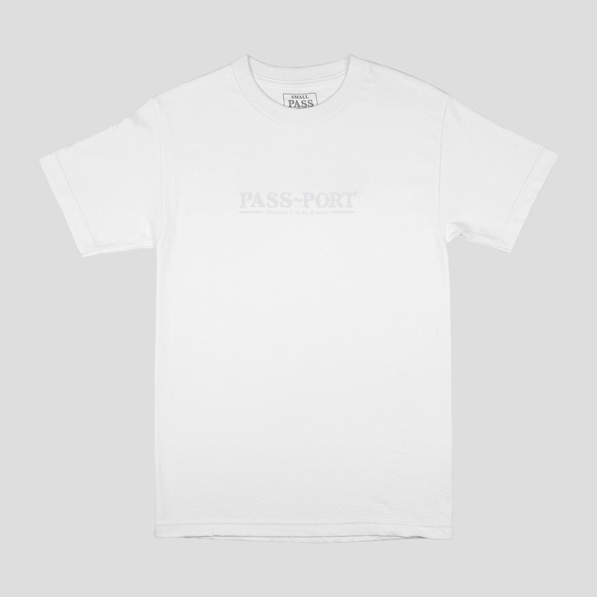 "PASS~PORT ""BUBBLES"" TEE WHITE"