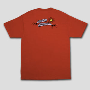 "COME SUNDOWN ""SHADOWS"" TEE RED"