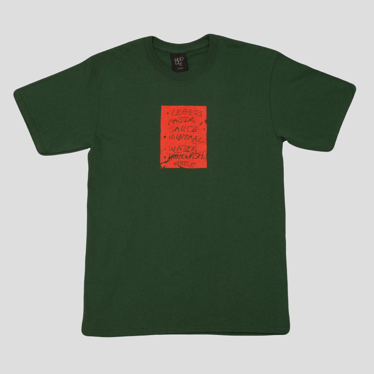 "HODDLE ""SHOPPING LIST"" TEE FOREST GREEN"